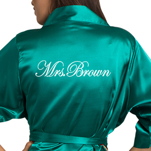 zynotti personalized custom customized embroidered bridal wedding party getting ready satin robes