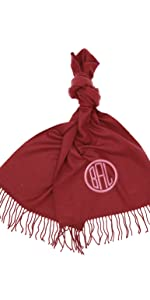 zynotti women men personalized custom embroidered monogram lightweight cashmere feel scarf