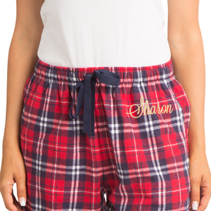 d8ecd678123 Her Name. First Name; Last Name; Nick Name. zynotti personalized custom  embroidered plaid flannel pajama lounge sleepwear pants