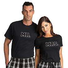 56010550a9c Zynotti Mr. and Mrs. Couple Matching Flannel Plaid Pajama Lounge ...