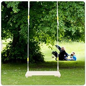 Happy Pie Play Adventure Adult Super Big Wood Tree Hanging Swings Seat With 67 Height Adjustable Nylon Rope Per Side