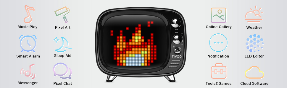Amazon Com Pixel Art Bluetooth Speaker Tivoo Retro 16x16 Pixel