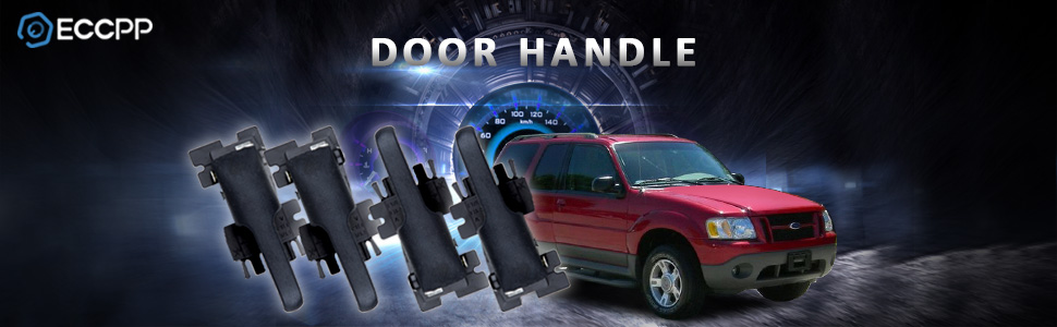 Pack of 4 ECCPP Door Handles Interior Inside Inner Front Rear Driver Passenger Side for 1995-2003 Ford Explorer 1997-2001 Mercury Mountaineer