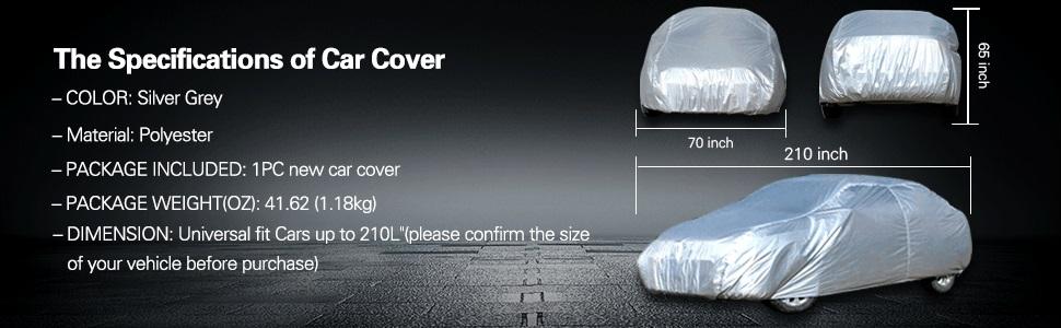 1PC For 2001 2002 2003 2004 Chrysler Full Coverage Silver Dustproof Car Cover