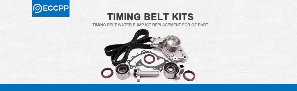 ECCPP fits 97-12 Mitsubishi Montero Sport Galant 3.5L 3.8L Timing Belt Water Pump Kit