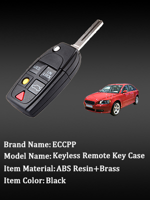 ECCPP Replacement fit for Uncut Keyless Entry Remote Control Car Key Fob Shell Case Volvo LQNP2T-APU Pack of 2