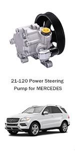 2008-2011 Mercedes-Benz SLK350 2009-2011 Mercedes-Benz SLK300 2008 Mercedes-Benz SLK280 ROADFAR 21-344 Power Steering Pump 2006-2007 Mercedes-Benz C230//C280//C350
