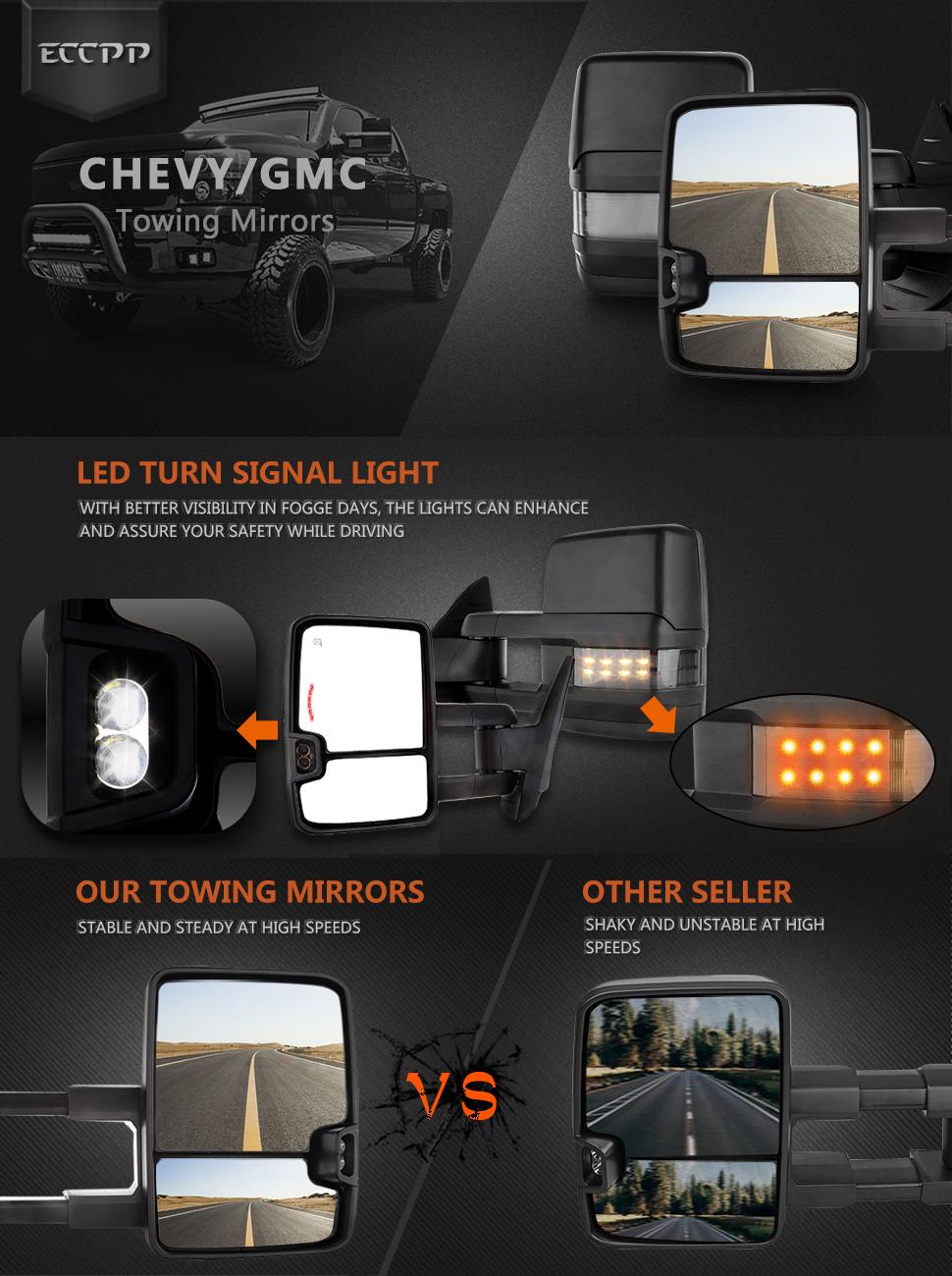 2009 Silverado Tow Mirror Wiring Diagram: Amazon.com: ECCPP Towing Mirrors High Performance Automotive rh:amazon.com,Design