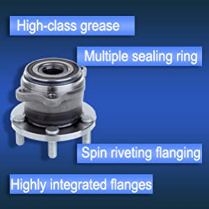 ECCPP Replacement fit for 2 Pcs New Rear Wheel Hub Bearing Assembly 2005-2009 Legacy Outback 5 Lugs W//ABS 512293 X 2 993796-5211-1817251