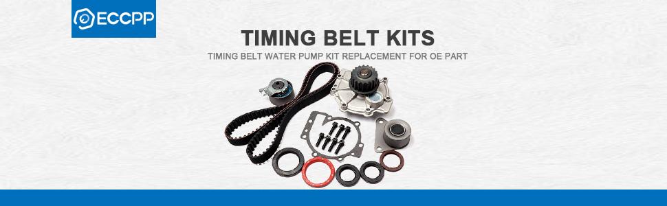 ECCPP Timing Belt Water Pump Kit Fit for 2004 2005 2006 Kia Spectra/2005  2006 Kia Spectra5/2005 2006 2007 2008 Kia Sportage Engine G4GF 2 0L DOHC