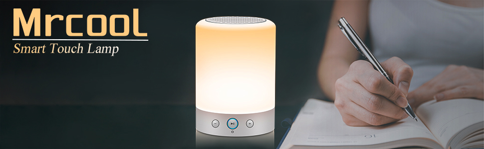 mrcool bluetooth speaker night lamp