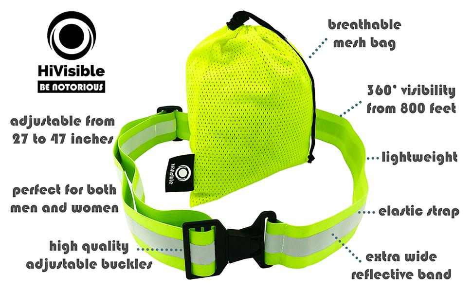 reflective belt, pt belt, reflective tape, reflective running gear