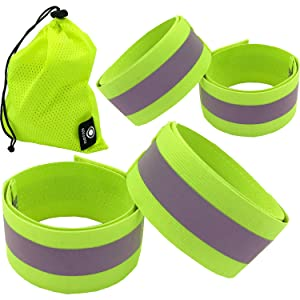 reflective bands, reflective belt, reflective tape, reflective running gear, reflective arm bands