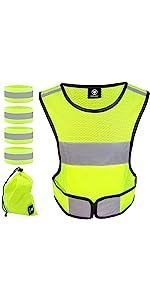 Reflective vest, reflective running vest, reflective gear, reflective bands, reflective belt