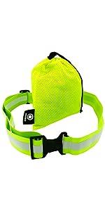 Reflective belt, pt belt, reflective running gear