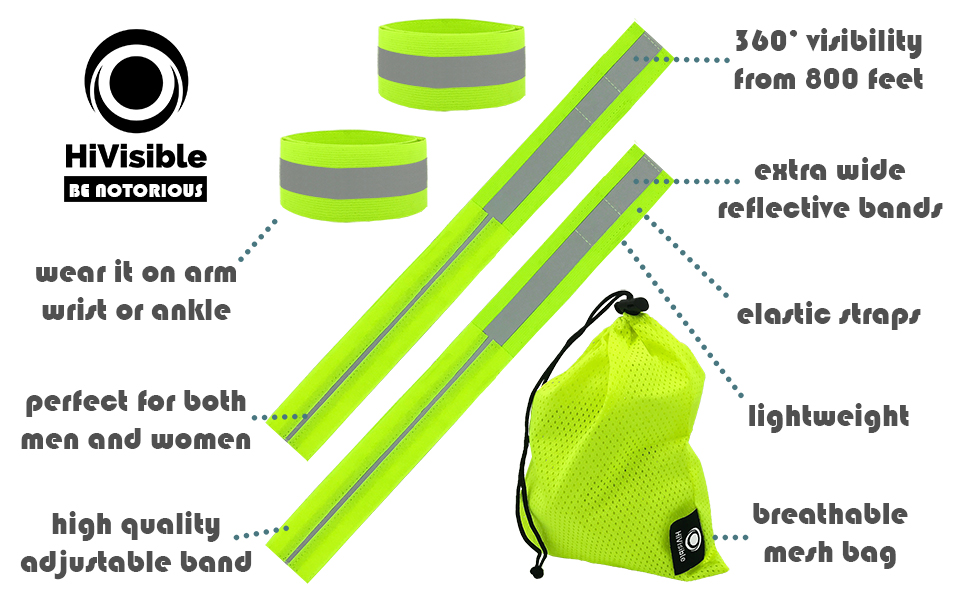 reflective bands, reflective tape, reflective running gear, reflective arm band