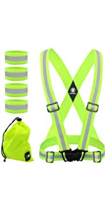 Reflective Vest, reflective bands, reflective running gear, reflective running vest