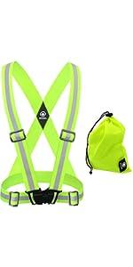 reflective vest, reflective running vest, reflective running gear, reflective bands, reflective tape