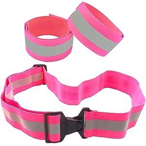 Pink Reflective Belt + 2 Bands