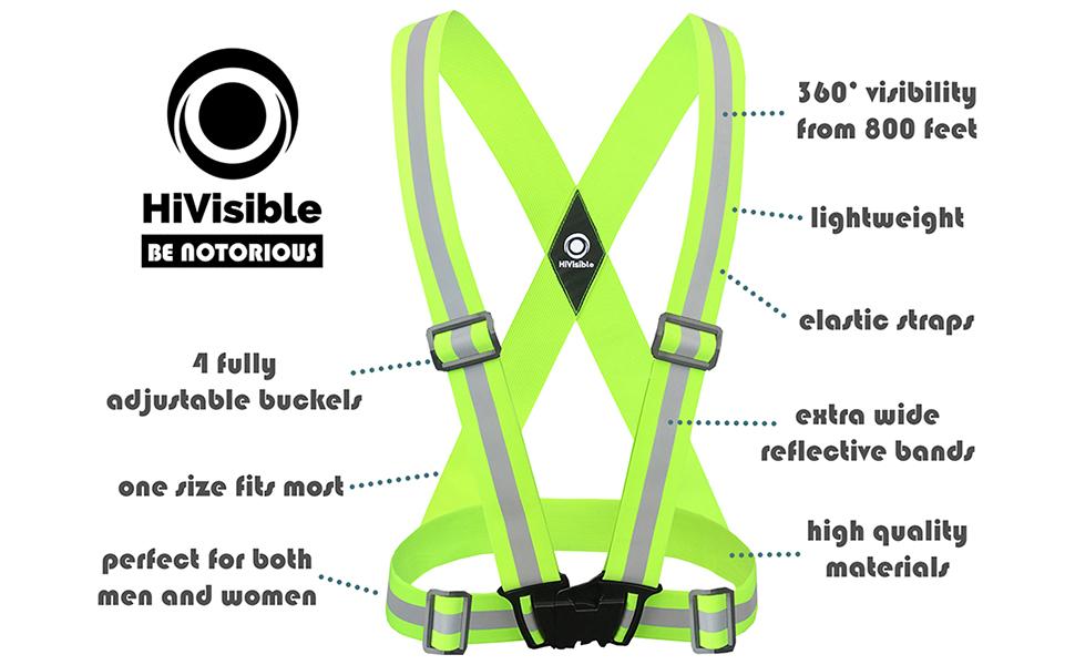 reflective vest, reflective running vest, reflective running gear, reflective tape, reflective bands