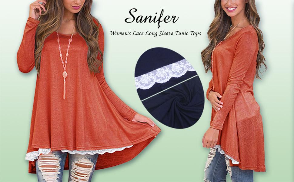 c763eecbaa3 Women s Casual Long Sleeve Loose Tunic Tops for Leggings Cotton Flowy Tunic  Dresses