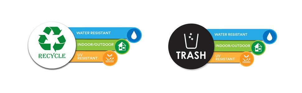 Amazon.com: Basura de reciclaje calcomanía para Metal ...