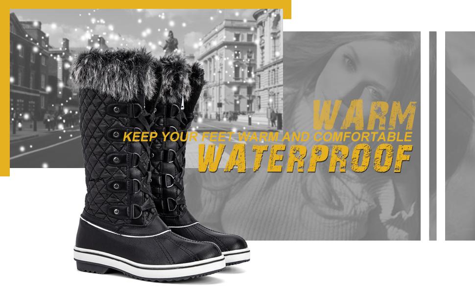 14d4b18a36e ALEADER Women's Waterproof Winter Snow Boots