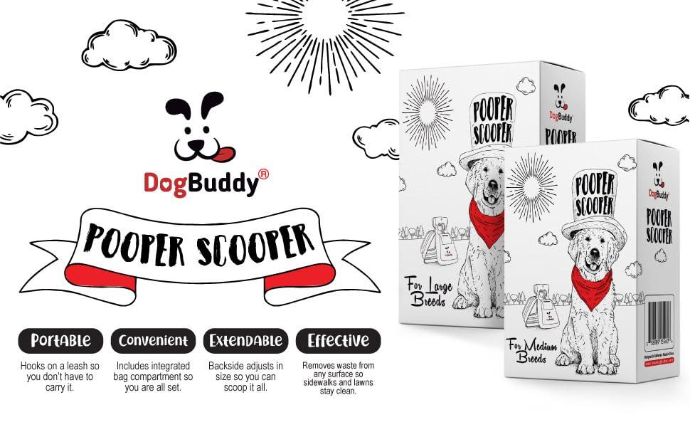 dog pooper scooper, waste cleaner for dog poop, DogBuddy, portable poop scoop