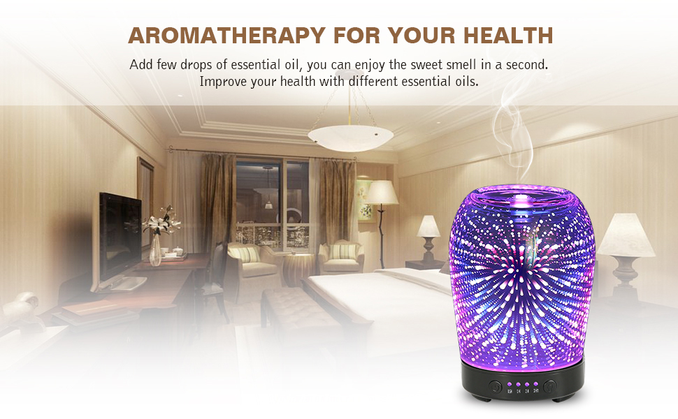 Aroma Spa Room Color ~ Amazon d aromatherapy glass essential oil diffuser