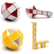 Digood Cute Snake Speed Cube Twist Puzzle Magic Snake Toys Collection Brain Teaser Skew Game for Kids Adults Teens