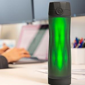 black hidrate spark 3, office, water bottle