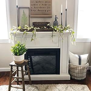 farmhouse decor throw pillow cushion cover fireplace entryway living room bedroom decor