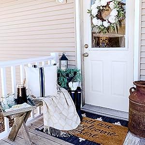 farmhouse decor cottage style porch rustic versatile decor cushion