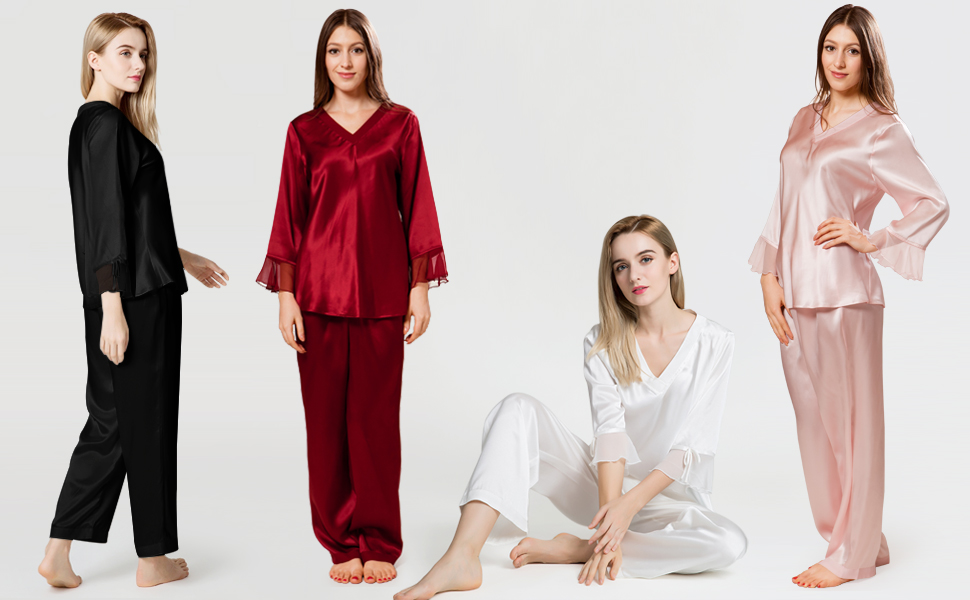Women s Silk Pajama Sets from 22 Momme Mulberry Silk 962042b66