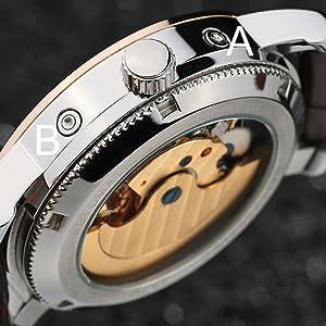 Amazon Com Tss Men S Automatic Tourbillon Moonphase Watch
