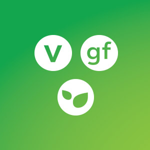 Icons for vegetarian, gluten free and non-GMO