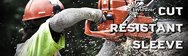 Cut resistant gloves evridwear for hand and arm safety