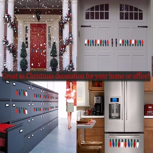 holiday car magnets decals are seasonal decorations and can be used also on garage doors refrigerators front metal doors automobiles school lockers - Christmas Locker Decorations