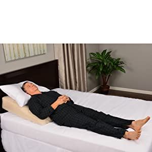 the smallsize inflatable bed wedgepillow can also be used to help expecting mothers alleviate swollen ankles by elevating foot of the bed