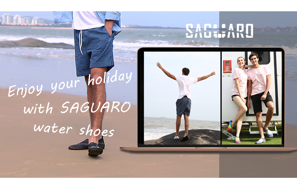 SAGUARO Mens Womens Barefoot Quick Dry Beach Swim Diving Surf Pool Yoga Aqua Socks Water Shoes