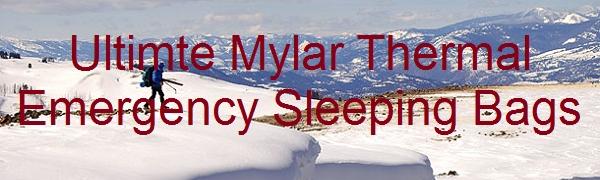 Leberna Mylar Thermal Emergency Sleeping Bags 2 packs