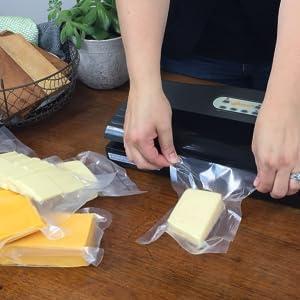 vacuum seal bags rolls pint quart food storage foodsaver