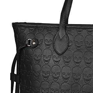 Amazon.com: Bolso de mano de piel sintética con asa superior ...