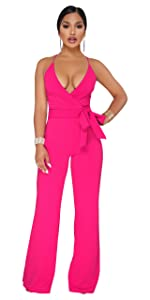 9d526616f70 Sexy V Neck Wide Leg Jumpsuits · Elegant Off the Shoulder Wide Leg Jumpsuits  · Striped Tie Waist Wide Leg Palazzo Pants · Spaghetti Strap Wrap Waist Wide  ...