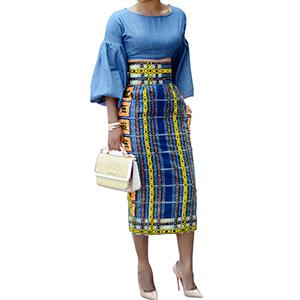 Amazon.com: Ermonn Women African Print Knee Length Skirt