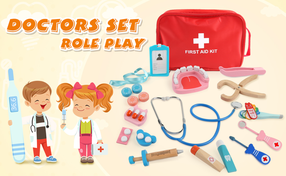 Nurse Hospital Medical Kit hypodermic needle shot Play Fisher Price Doctor Dr