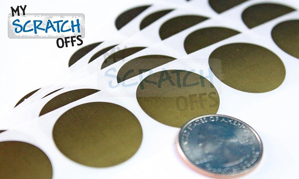 1 Inch Scratchie\u2122 Scratch Stickers 25mm 50 Pack