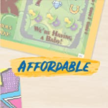 Baby announcement scratch-off ticket with text: Affordable