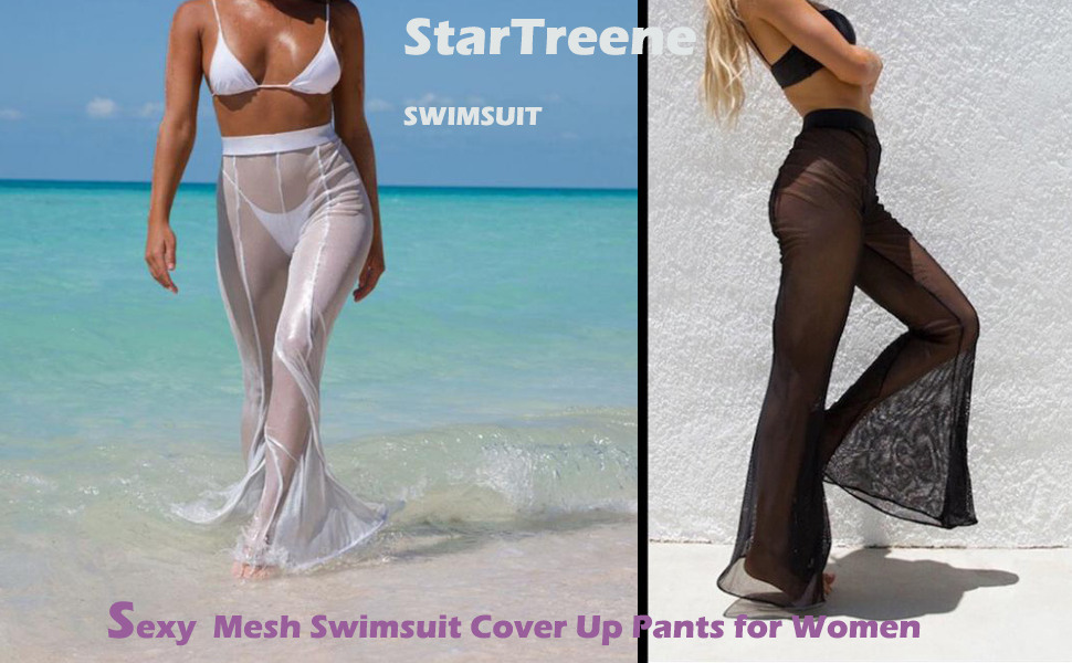 052980944a StarTreene Mesh Swimsuit Cover Up Pants for Women. Unlike other bathing suit  ...