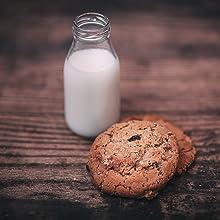 10.5 oz Reusable Glass Milk Bottles, Vintage Dairy Bottles